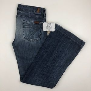 7 for all mankind dojo flare jeans 26x29.5